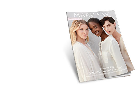 Mary Kay's eCatalog is shown with the new TimeWise Miracle Set 3D skin care regimen on the cover.